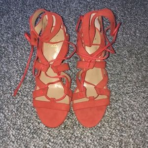 Banana Republic Soul Mate lace up heels size 7